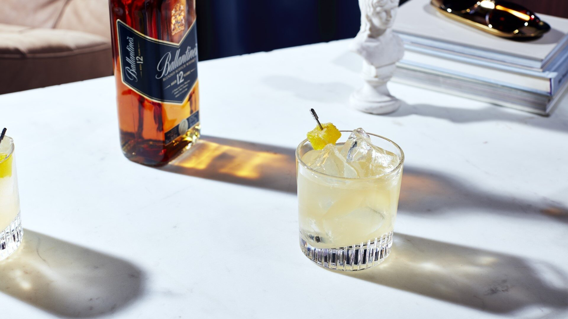 Ballantines 12 Year Old Penicilin Drink
