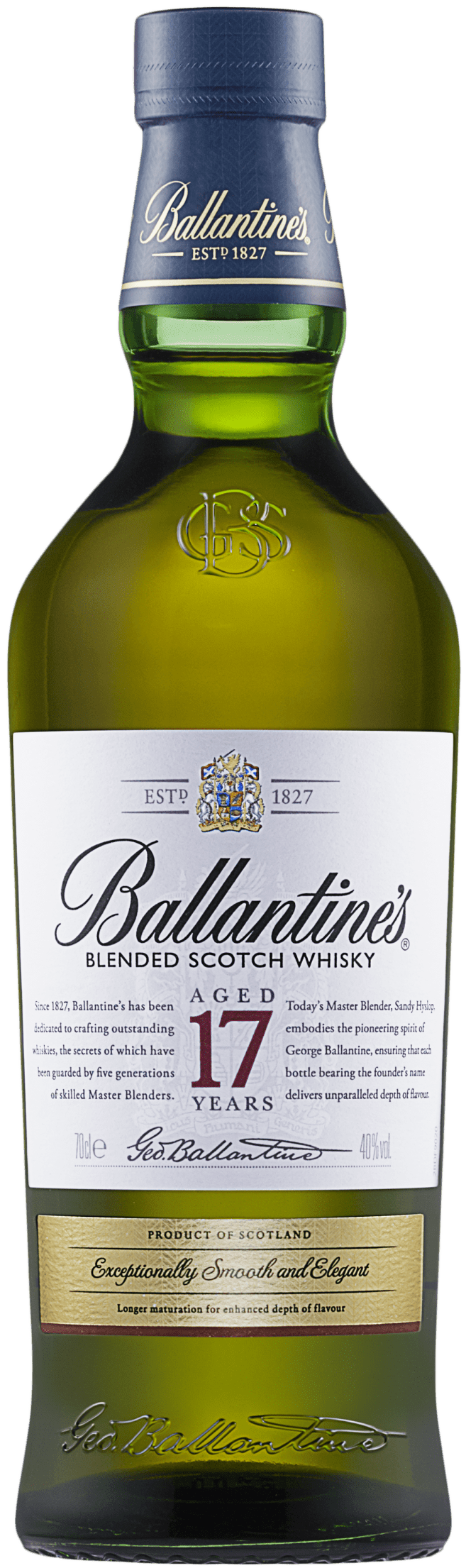 Ballantines 17 Year Old bottle