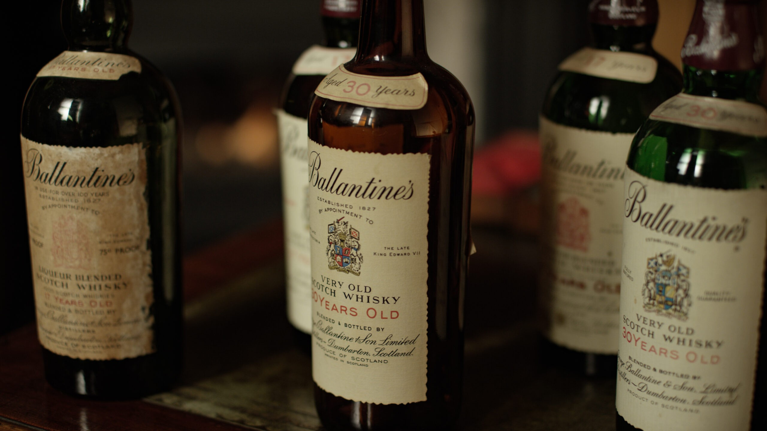 ballantines bottles