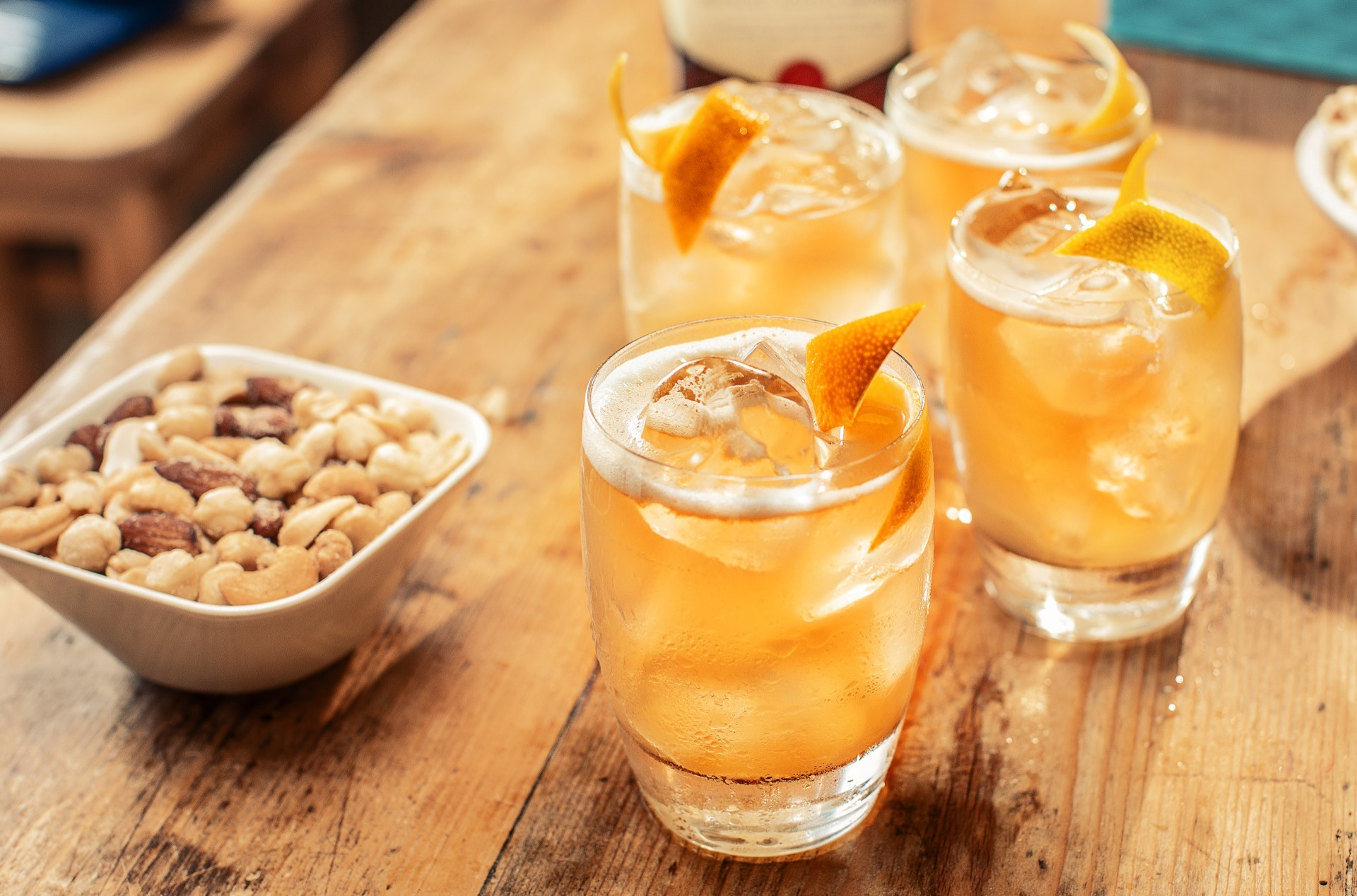 ballantines finest lychee sour whisky drink