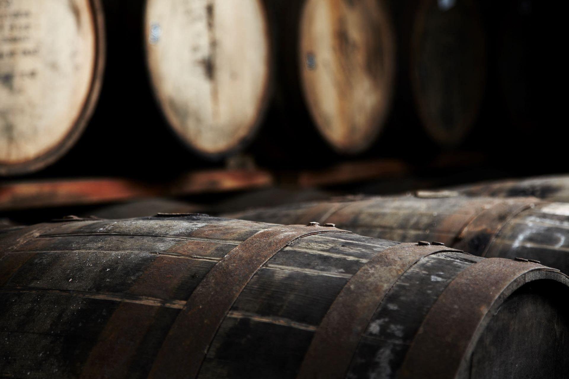 ballantines whisky maturation barrels