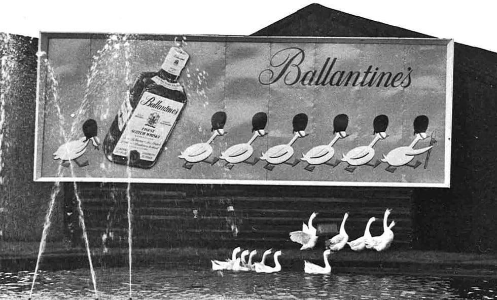Ballantines Scotch Watch Geese
