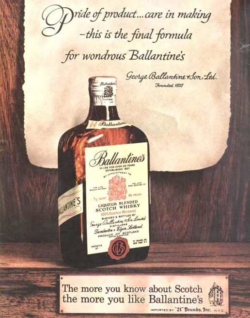 Early Ballantine's ad