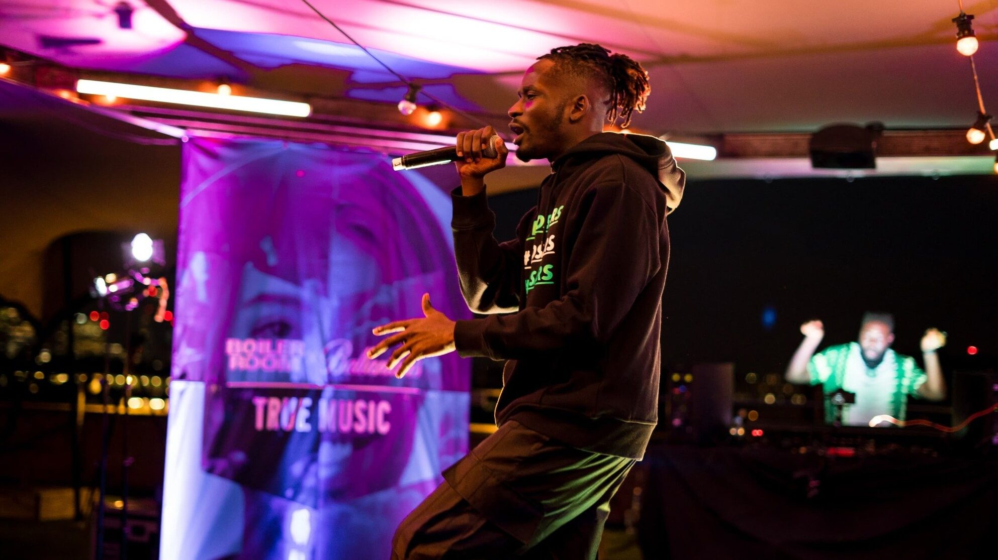 Mr Eazi performing in London for Boiler Room and Ballantine's