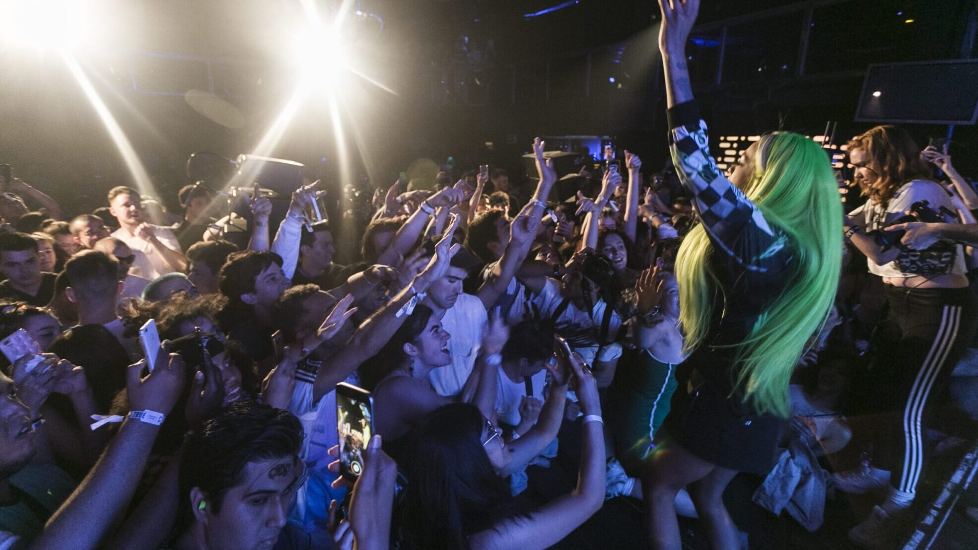 Rico Nasty with crowd at Ballantine's x Boiler Room Madrid