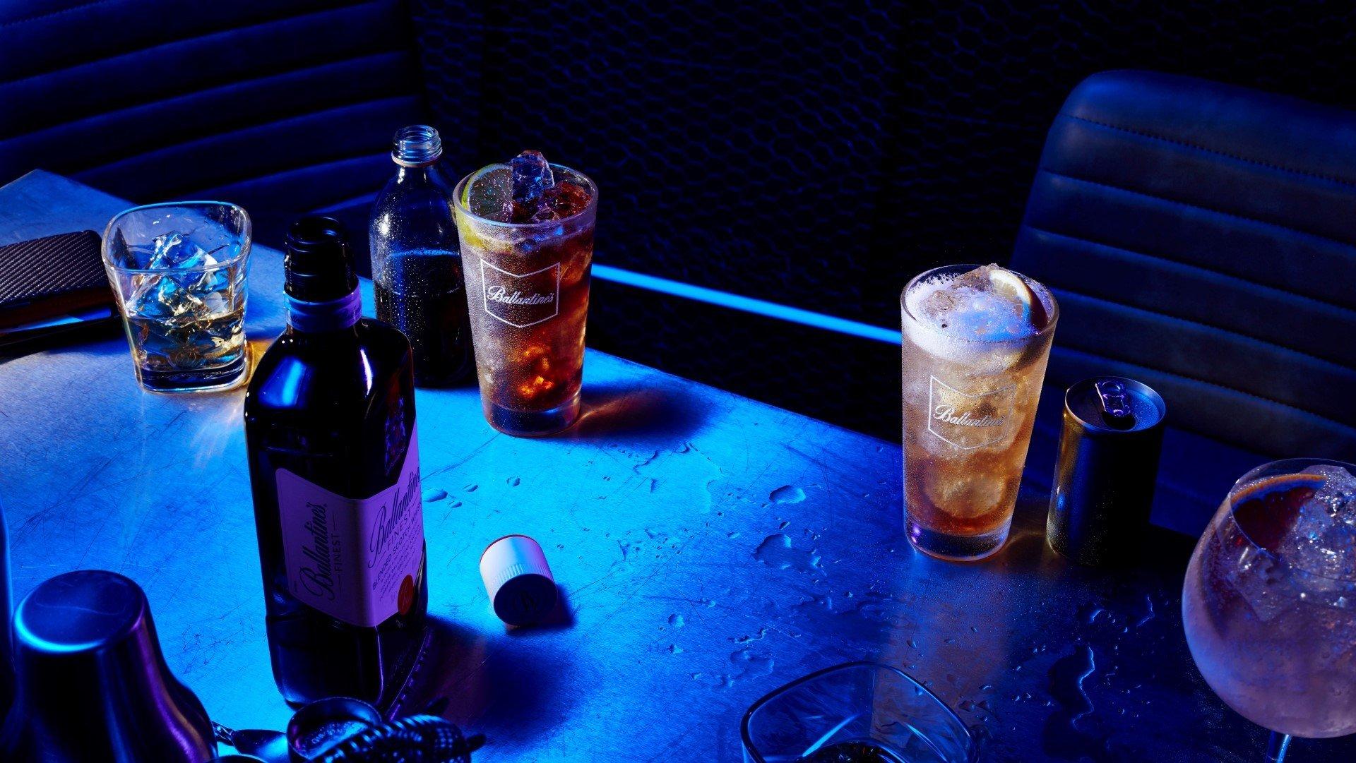 Ballantine's Finest Bottle & Drinks