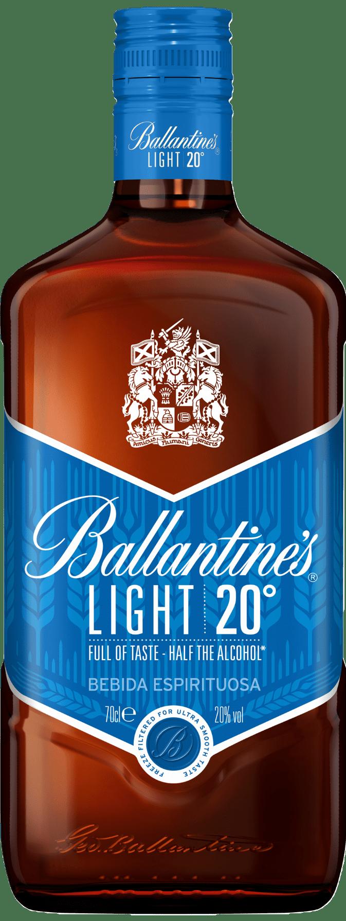 Botella de Ballantine's Light