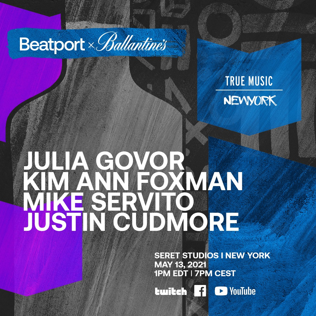 line up flyer for ballantines and beatport new york