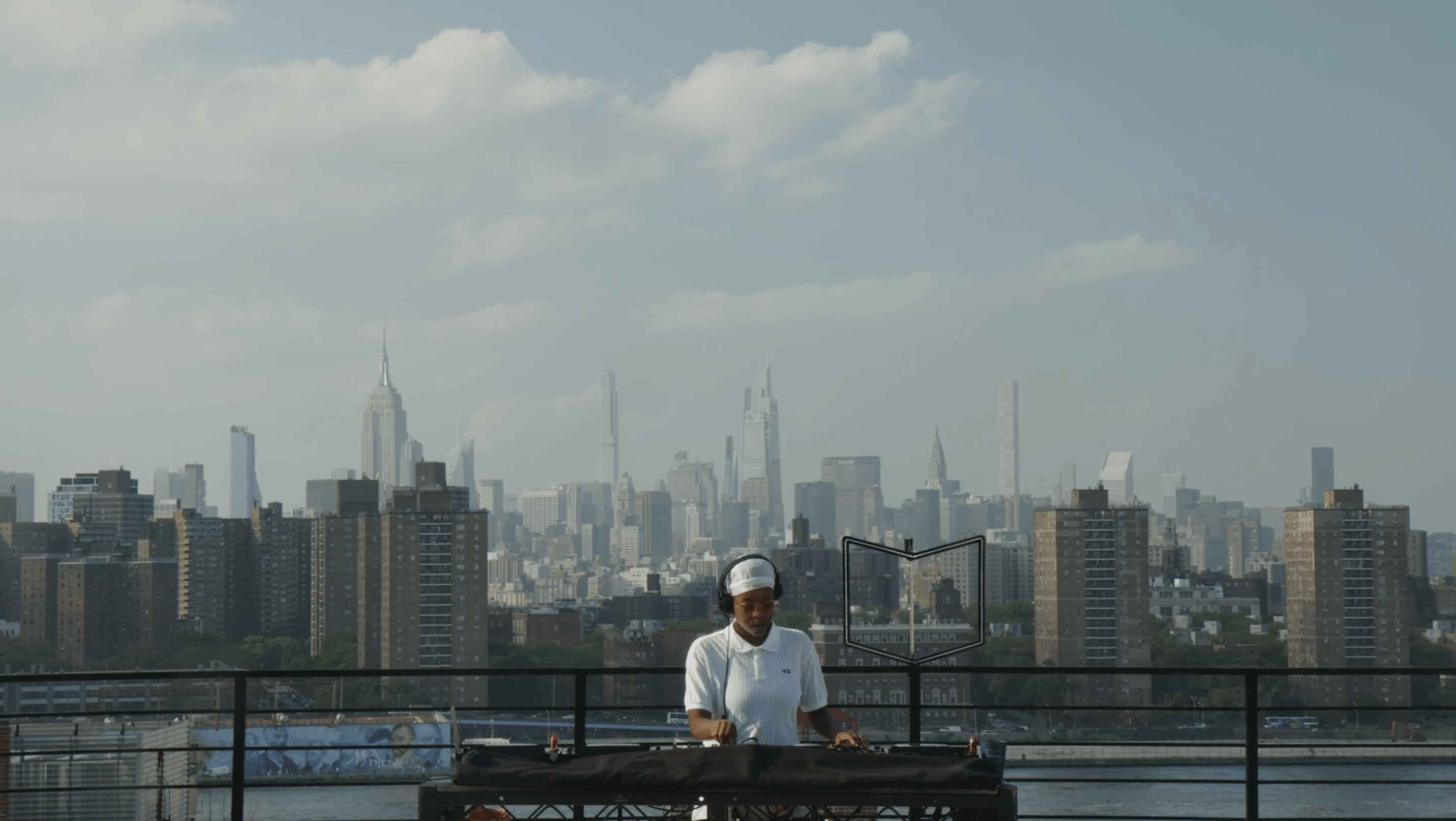 Shyboi pictured performing for Beatport and Ballantines