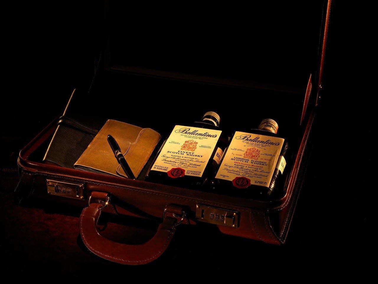 ballantines scotch whisky in case
